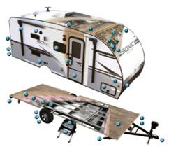 cut away of rv camper