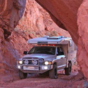 truck camper mountain
